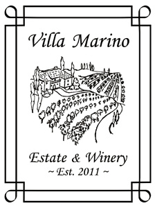Personalized Tuscan Villa Wine Label Art Set Up