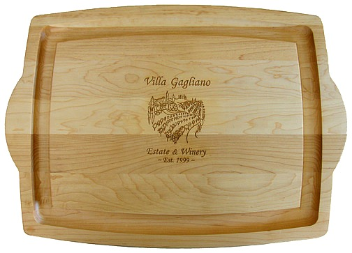 Personalized Tuscan Villa Large Cutting Board with Handles