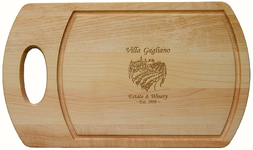 Personalized Tuscan Villa Cutting Board with Handle