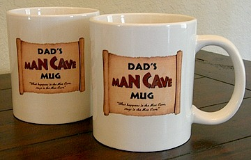 Dads Man Cave Jumbo Coffee Mugs