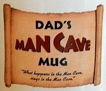 Dads Man Cave Jumbo Coffee Mug - Close Up