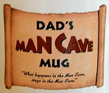 Dads Man Cave Jumbo Coffee Mug - Close Up