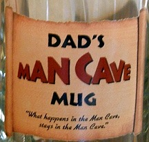 Dads Man Cave Tankard Mug - Close Up
