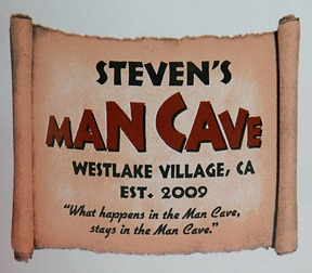 Personalized Man Cave Jumbo Coffee Mug - Close Up