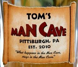 Personalized Man Cave Tankard Mug - Close Up