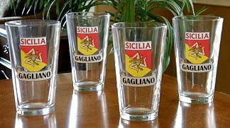 Personalized Sicilia Pride Pint Glasses - Set of 4