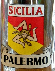 Personalized Sicilia Pride Pint Glass - Close Up