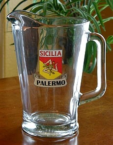 Personalized Sicilia Pride Glass Pitcher