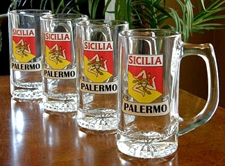 Personalized Sicilia Pride Tankard Mugs - Set of 4