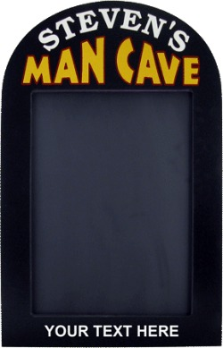 Personalized Man Cave Chalkboard Sign with Optional Text