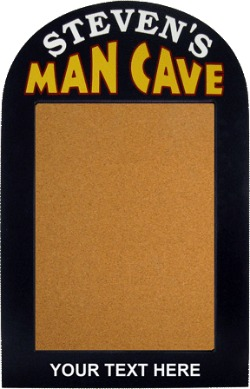 Personalized Man Cave Bulletin Board Sign with Optional Text