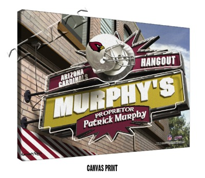 Personalized Arizona Cardinals NFL Sports Room Pub Sign - Canvas Mounted Print
