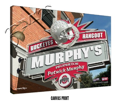 Personalized Ohio State Buckeyes NCAA Football Sports Room Pub Sign - Canvas Mounted Print