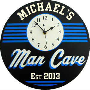 Personalized Man Cave - Retro - Blue