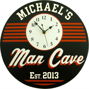 Personalized Man Cave - Retro - Orange