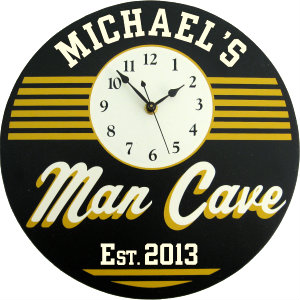 Personalized Man Cave - Retro - Yellow