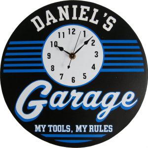 Personalized Garage - Retro - Blue