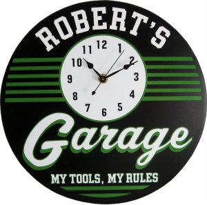 Personalized Garage - Retro - Green