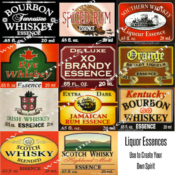 3 Liquor Essences come in small bottles