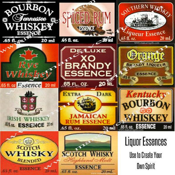 4 Liquor Essences come in small bottles