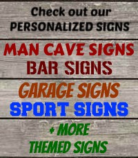 Man Cave Signs, Man Cave Decor, Personalized Bar Signs, Man Cave Gifts