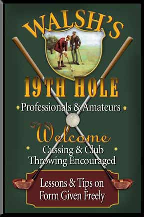 Golf Signs, Golf Sign, Golf Wall Decor