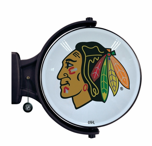 Chicago Blackhawks Revolving Wall Light