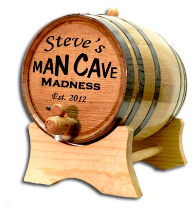 Man Cave Madness Oak Barrel