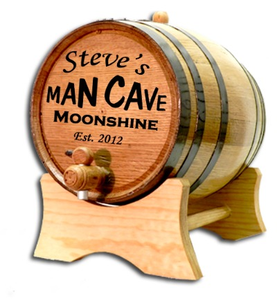 Man Cave Moonshine Oak Barrel