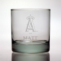 Los Angeles Angels Rocks Glass