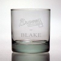 Atlanta Braves Rocks Glass
