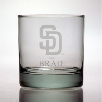 San Diego Padres Rocks Glass