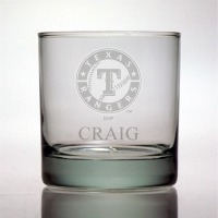 Texas Rangers Rocks Glass
