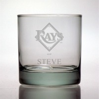Tampa Bay Rays Rocks Glass
