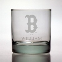 Boston Red Sox Rocks Glass