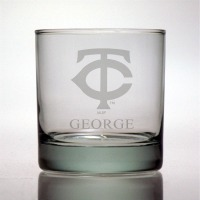Minnesota Twins Rocks Glass