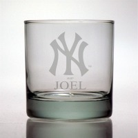 New York Yankees Rocks Glass