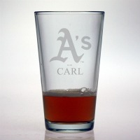 Oakland A's Pint Glass