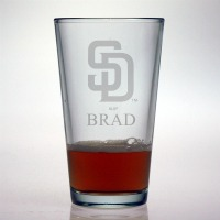 San Diego Padres Pint Glass