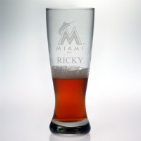 Miami Marlins Grand Pilsner Glass