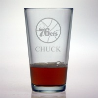 Philadelphia 76ers Pint Glass