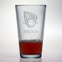 New Jersey Nets Pint Glass