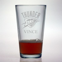 Oklahoma City Thunder Pint Glass
