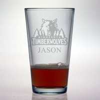 Minnesota Timberwolves Pint Glass