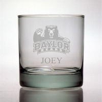 Baylor University Bears Rocks Glass