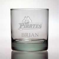 East Carolina University Pirates Rocks Glass