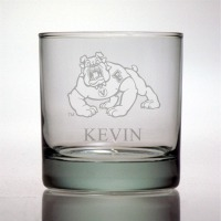 Fresno State University Bulldogs Rocks Glass