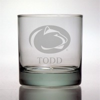 Penn State University Nittany Lions Rocks Glass