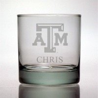 Texas A&M University Aggies Rocks Glass