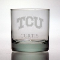 Texas Christian University Horned Frogs Rocks Glass
